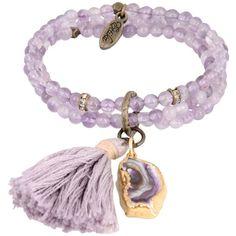 Ettika Bracelet (6660 ALL) ❤ liked on Polyvore featuring jewelry, bracelets, lilac, beading jewelry, ettika jewelry, beaded jewelry, bead jewellery and ettika