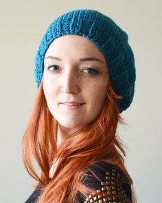 hand knit soft hat slouchy hat winter by LOVELYCHICKNITTING, $29.50