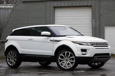 2012 Land Rover Range Rover Evoque Coupe- white - front three-quarter view