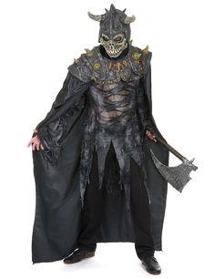 Déguisement chevalier de l'armée sombre adulte : Ce déguisement de chevalier de l'armée sombre est pour adulte et consiste en une cape à laquelle est cousu un masque. (Hâche, pull, pantalon et chaussures non inclus)La...