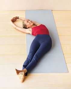 Crescent Stretch: Opens and strengthens the muscles between the ribs