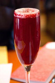 Blackberry Mimosa / THE BE BETTER BLOG: Be a Better...Bartender.