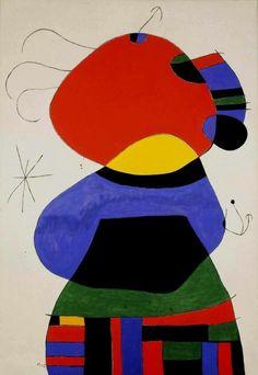 "Joan Miró ""Woman with three hairs"", 1972"