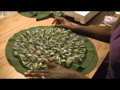 Making A Rosette Pillow - YouTube