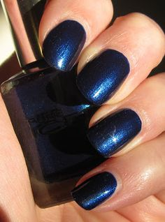love me some navy blue nail polish - Pure Ice All Night Long