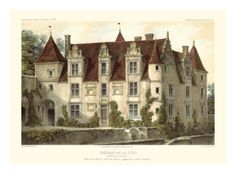 French Chateaux VI Giclee Print by Victor Petit at Art.com