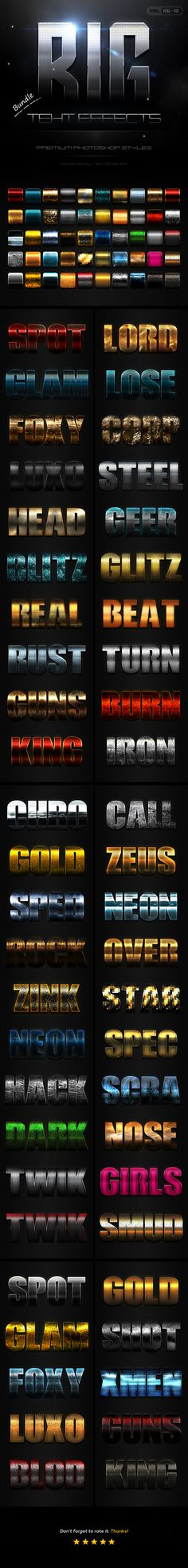 50 Bold Text Effects Bundle Two - Photoshop