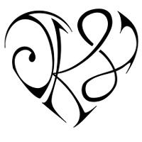 K+J+B heart tattoo... love the letter idea.