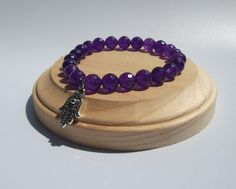 Amethyst Healing Bracelet  for inner peace and by InspiredByKarma, $24.99