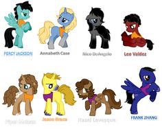 My Little Percy Jackson Ponies.... (They spelled Annabeth and Nico's last names wrong)