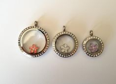 How Many Charrms Fit in an Origami Owl Locket?  Large 7-12  Medium 4-7  Mini 1-2  www.owllockets.com
