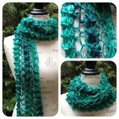 Quick and Easy Chunky Lace Scarf — NobleKnits Knitting Blog