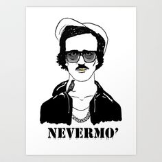 Gangsta Poe Art Print/t-shirts/phone cases and more by Sara Fox