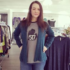Michigan Locals - Get one of our exclusive 517 tees and we will donate 10% to the 517 community.  www.paigeandreece.com #517 #Michigan #shop