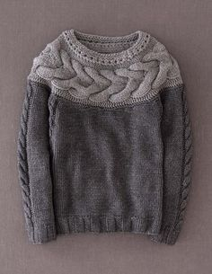 Handknit Cable Sweater: Boden