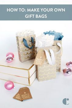 Gift-wrapping emergency? No problem! Learn how to make quick gift bags out of wrapping paper, ribbon, and a bit of glue.