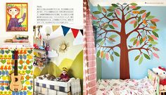 Deco ideas for WALLS. Nordic Deco Ideas for Kids' Rooms, edited and published by édition Paumes ジュウ・ドゥ・ポゥム著『北欧の子ども部屋デコ・アイデアブック』より