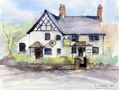 Cottage of content  fine art print by RobertColdwellArt on Etsy