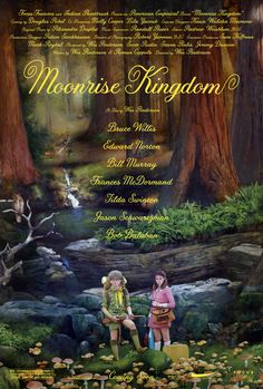 Moonrise Kingdom Official Poster. A whimsical, magic little film with a whimsical magic big heart.