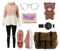 """""""Untitled #426"""" by syshrn on Polyvore featuring Boohoo, Miss Selfridge, DamnDog, Ray-Ban and Forever 21"""