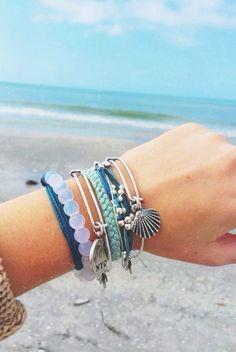 MengPa Boho Friendship Bracelets Set Beach String Ocean Surfer Beaded Jewelry