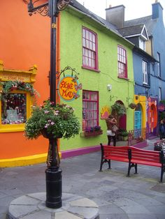 Colorful buildings in Kinsale, County Cork, Ireland