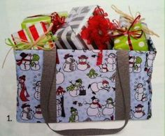 Use the medium utility tote to deliver gifts this season. by wteresa