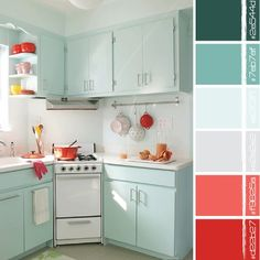 red + turquoise.  From Color Love