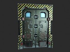 Sci-Fi Door - Polycount Forum: