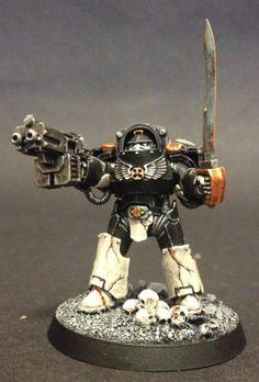 40k - Mortifactors Terminator Sergeant by John Ashton