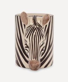 Zebra Pencil Pot | Liberty Liberty Tree, Facial Cream, Wash Bags, Department Store, Rose Quartz, Luxury Branding, Animal Print Rug, Cuff Bracelets, Pencil