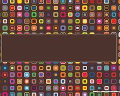 Colorful squares PowerPoint template for retro presentations and disco