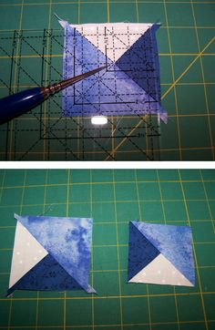 In this article, go through the precision technique basics of quilt piecing quarter and triple triangle squares. Quilting For Beginners, Quilting Tips, Quilting Tutorials, Quilting Projects, Quilting Designs, Patchwork Quilt Patterns, Quilt Block Patterns, Quilt Blocks, Half Square Triangle Quilts