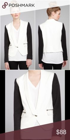 "Nell Couture Black White Colorblock Tencel Blazer New Without Tags Nell Couture Black White Colorblock Tencel Fitted One-Button Blazer Jacket  * Size: 10 * Retail: $215.00  * Jacket Length: 23 1/2"" * Sleeve Length: 24 1/2"" * Bust Across: 20"" * 100% Tencel/100% Polyester * Lined Nell Couture Jackets & Coats Blazers"
