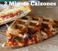 "OMG so creative and easy! ~2 Minute ""Calzones"""