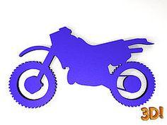Crossmotorrad als Wandbild