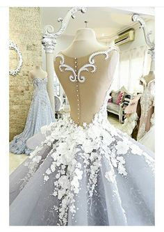 stunning sheer-back & lace wedding gown Quinceanera Dresses, Prom Dresses, Formal Dresses, Ball Gowns Prom, Dresses 2016, Cheap Dresses, Bridal Gowns, Wedding Gowns, Lace Wedding