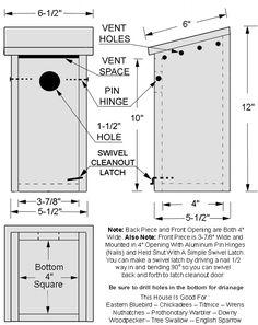 Info for bluebird nest boxes | Bird houses and feeders | Pinterest ...
