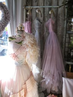 Vignettes Antiques - Hang Me Up. Pretty Pastel, Pastel Pink, Vintage Glam, Vintage Shops, Pretty Outfits, Beautiful Outfits, Boudoir, Vintage Mannequin, Shabby