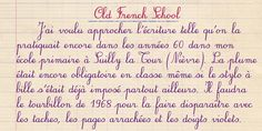 Old French School Beautiful Handwriting Alphabet, Amazing Handwriting, Handwriting Examples, Pretty Handwriting, Handwriting Styles, Cursive Handwriting, French Handwriting, Penmanship, Motivation Text