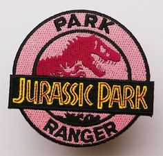 Jurassic Park Ranger Iron On Patch- Movie Film Embroidered Applique Sew Badge Look Patches, Pin And Patches, Iron On Patches, Jacket Patches, Jurassic Park, Service Dog Patches, Service Dogs, Pastel Jacket, Disney Patches