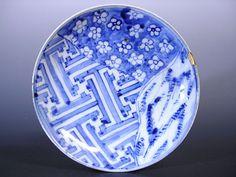 (Sho) Imari Imari Early Imari Edo Early Flower Saaya Five Dimensions Plate _ Picture 1