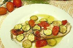 Trancio di ricciola al forno Calamari, Zucchini, Vegetables, Recipes, Oven, Recipies, Vegetable Recipes, Ripped Recipes, Octopus