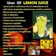 Uses of lemon juice Great for so many things, and use it often, but my main thing is as a kidney flush.