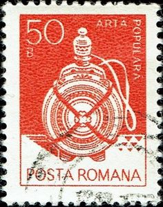 Znaczek: Wooden flask, Suceava (Rumunia) (Art) Mi:RO 3915X,Sn:RO 3102,Yt:RO 3418