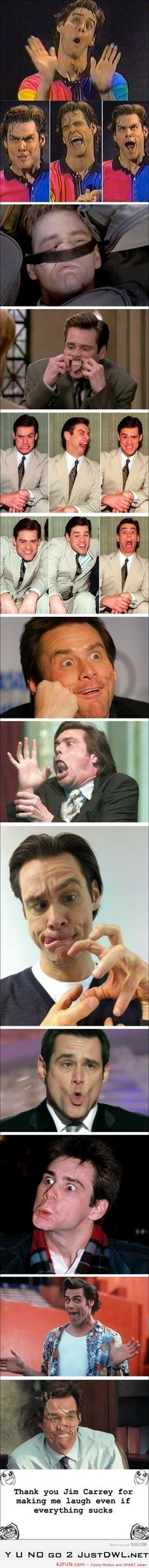 Jim Carrey – This man has been stupid for a long time & I hope he keeps it up (:
