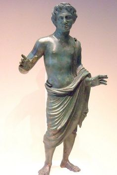 Statuette Inscribed with a dedication to the Etruscan God Lur Etruscan 300-280 BCE Bronze