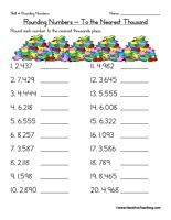 Rounding to the Nearest Hundred Thousand Worksheet | Rounding ...