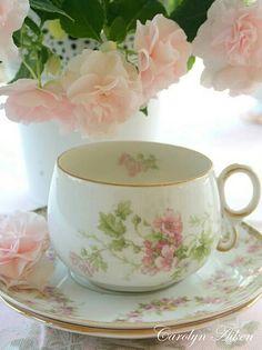 """floral teacup - """"Soft Elegance"""""""