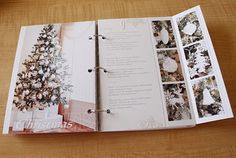 I love the fold-out page; great way to add more journaling or photos in a small space.My creative corner: December Daily